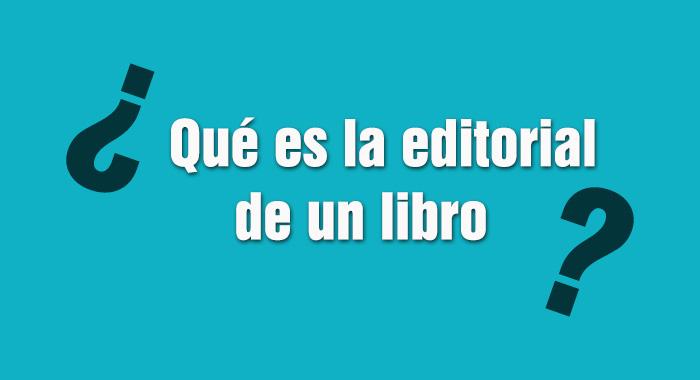Que es la editorial de un libro