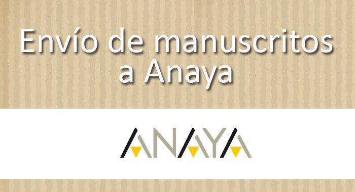Envío de manuscritos Anaya