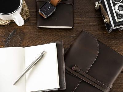 Cuaderno de cuero artesanal