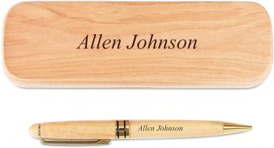 Bolígrafo de madera personalizable