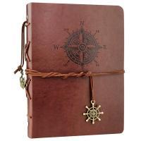 Cuaderno de cuero con detalles nauticos