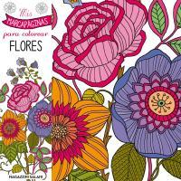 Marcapaginas para colorear flores