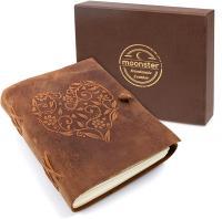 Cuaderno de cuero auténtico
