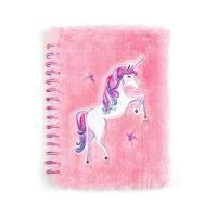 Cuaderno de unicornio en felpa