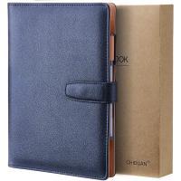Cuaderno rellenable de piel azul