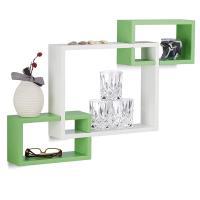Cubos entrelazados verde y blanco