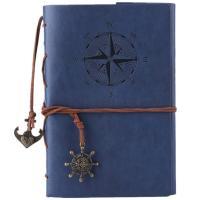 Cuaderno de cuero azul