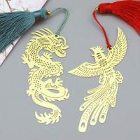 Marcapaginas metalico dragon y fenix