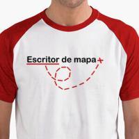 Camiseta para escritor de mapa