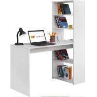 Estanteria libros pared con mesa