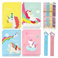 Set de cuadernos de unicornio