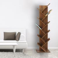 Librería de madera con 10 estantes