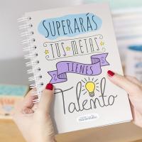 Cuadernos con mensajes positivos