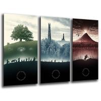 3 cuadros el Señor de los Anillos