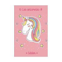 Libreta decorada de unicornio