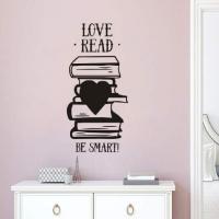 Love, read be smart vinilo