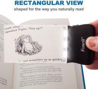 Lupa rectangular para leer