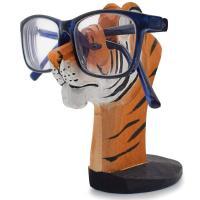 Madera porta gafas con forma de tigre