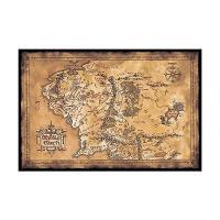Poster mapa de la Tierra Media
