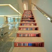 Pegatinas para escalera libros