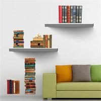 Pegatinas pared con libros