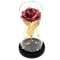 Rosa eterna en vidrio