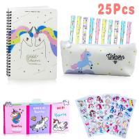 Set de papelería unicornios