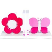 Soportalibros flor y mariposa