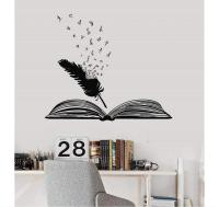 Sticker pluma y libro