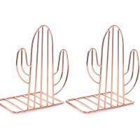 Sujetalibros metal cactus