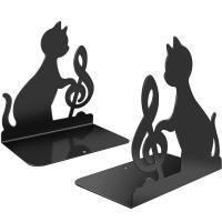 Sujetalibros metalico gato