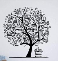 Vinilo arbol de libros